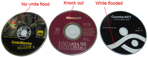 Cd artwork knock out